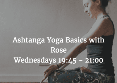 Yoga basics classes with Rose